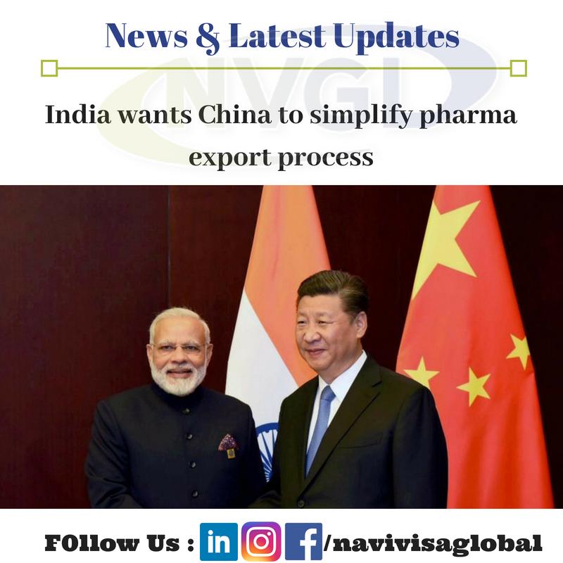 India wants China to simplify pharma export process